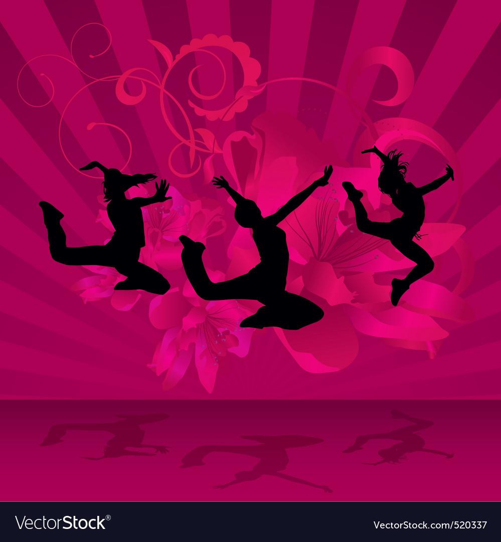 Magenta dark dance party vector   Price: 1 Credit (USD $1)