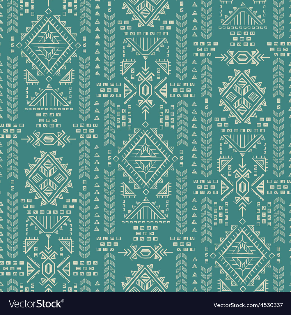Tribal mexican vintage ethnic seamless pattern vector   Price: 1 Credit (USD $1)