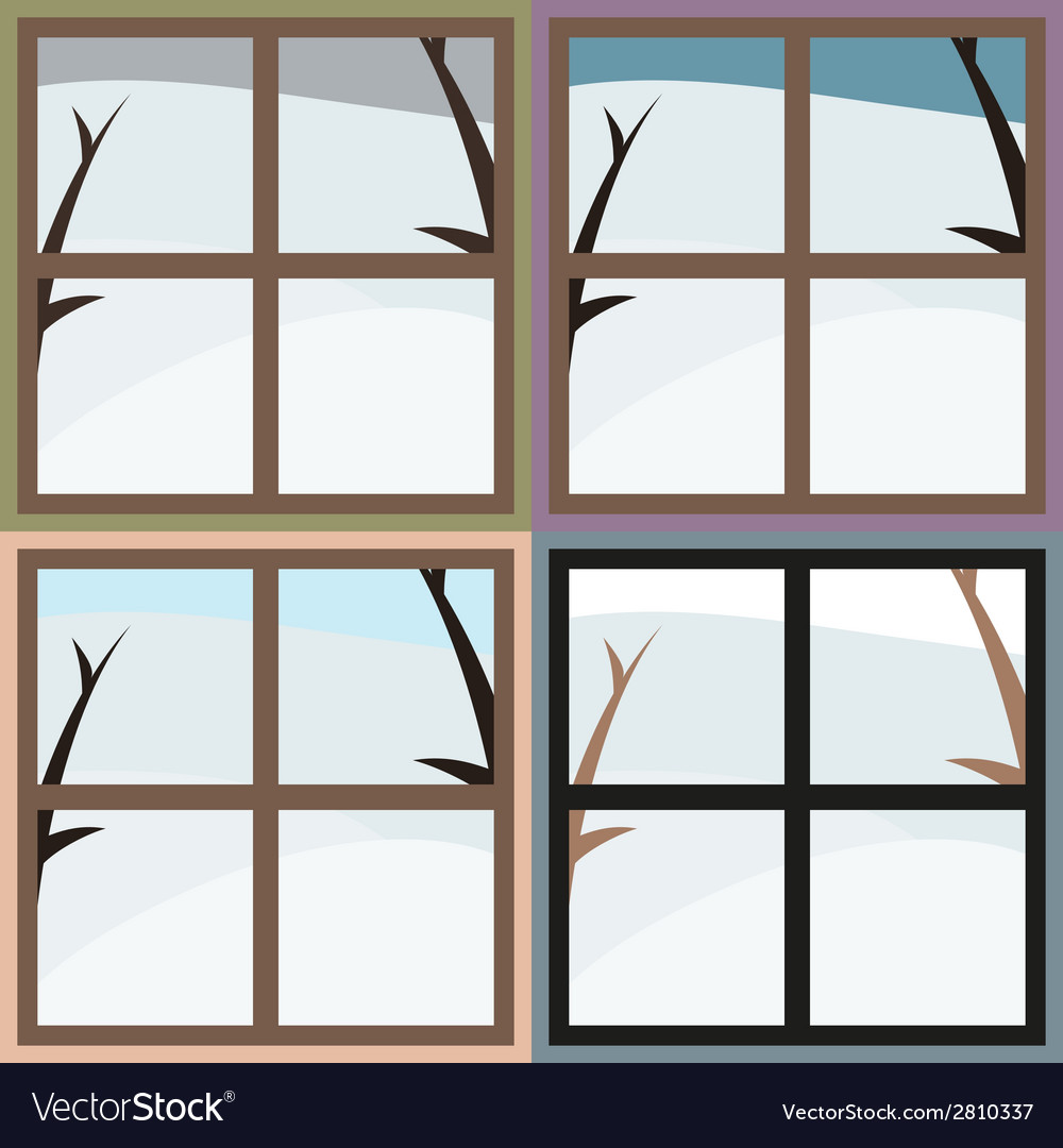 Winter view from the window vector | Price: 1 Credit (USD $1)