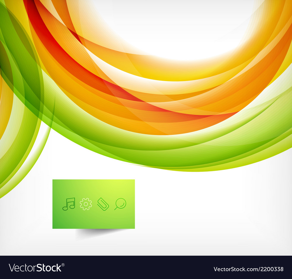 Green and orange wave abstract background vector | Price: 1 Credit (USD $1)