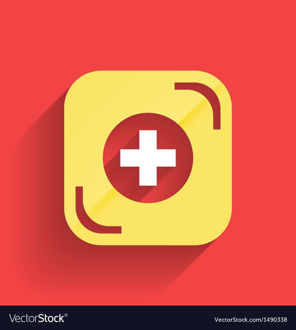 Health help icon flat design vector | Price: 1 Credit (USD $1)