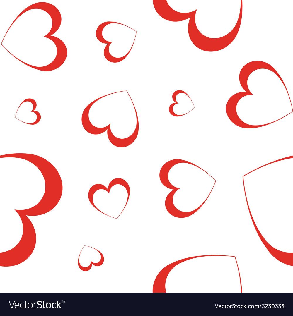 Hearts - seamless wallpaper vector | Price: 1 Credit (USD $1)