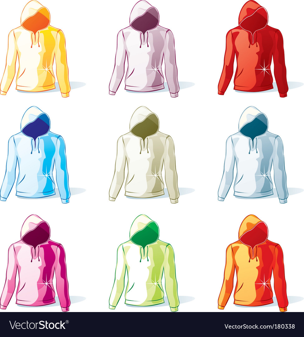 Hoodies set vector | Price: 1 Credit (USD $1)