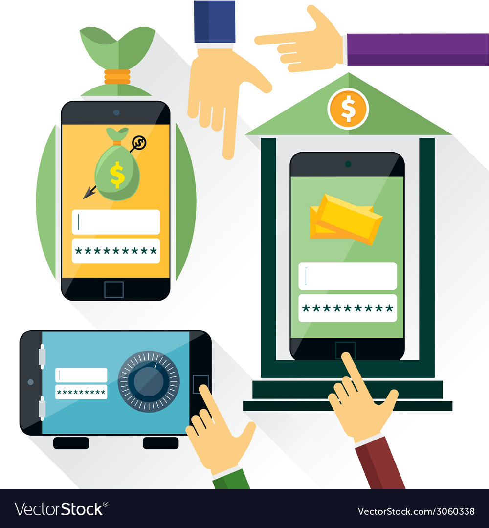 Internet online banking vector   Price: 1 Credit (USD $1)
