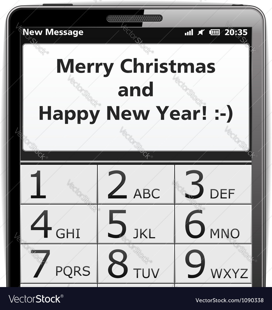 Merry christmas sms vector | Price: 1 Credit (USD $1)