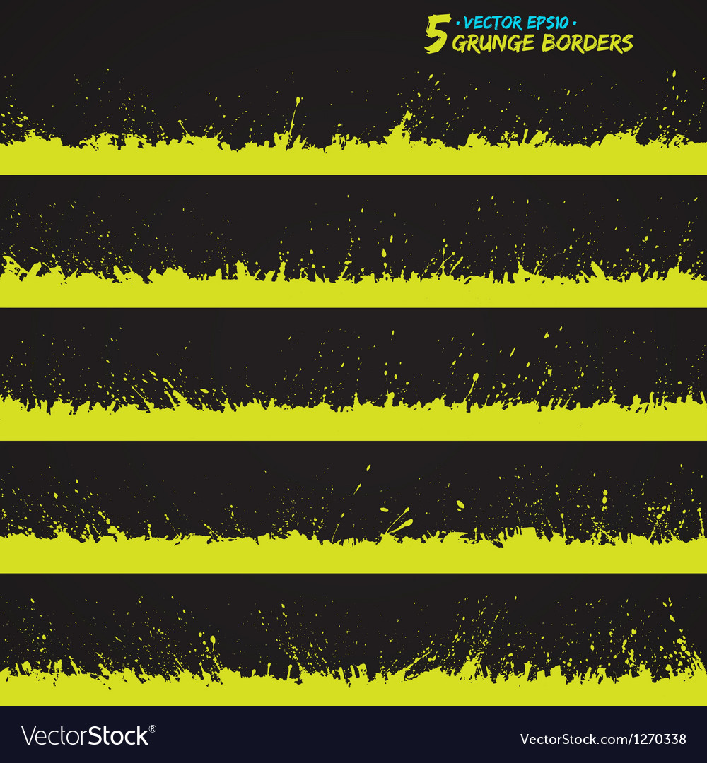 Set of grunge borders vector | Price: 1 Credit (USD $1)