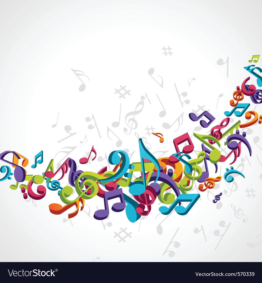 Abstract music notes vector | Price: 1 Credit (USD $1)