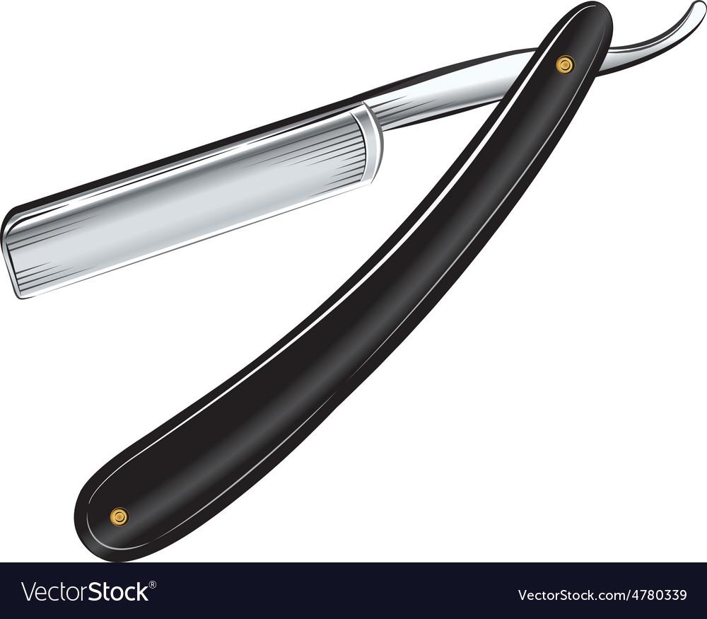 Antique straight razor on white background vector   Price: 1 Credit (USD $1)
