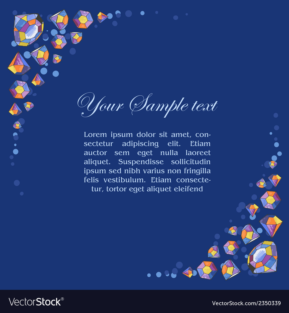 Beautiful diamond frame vector | Price: 1 Credit (USD $1)
