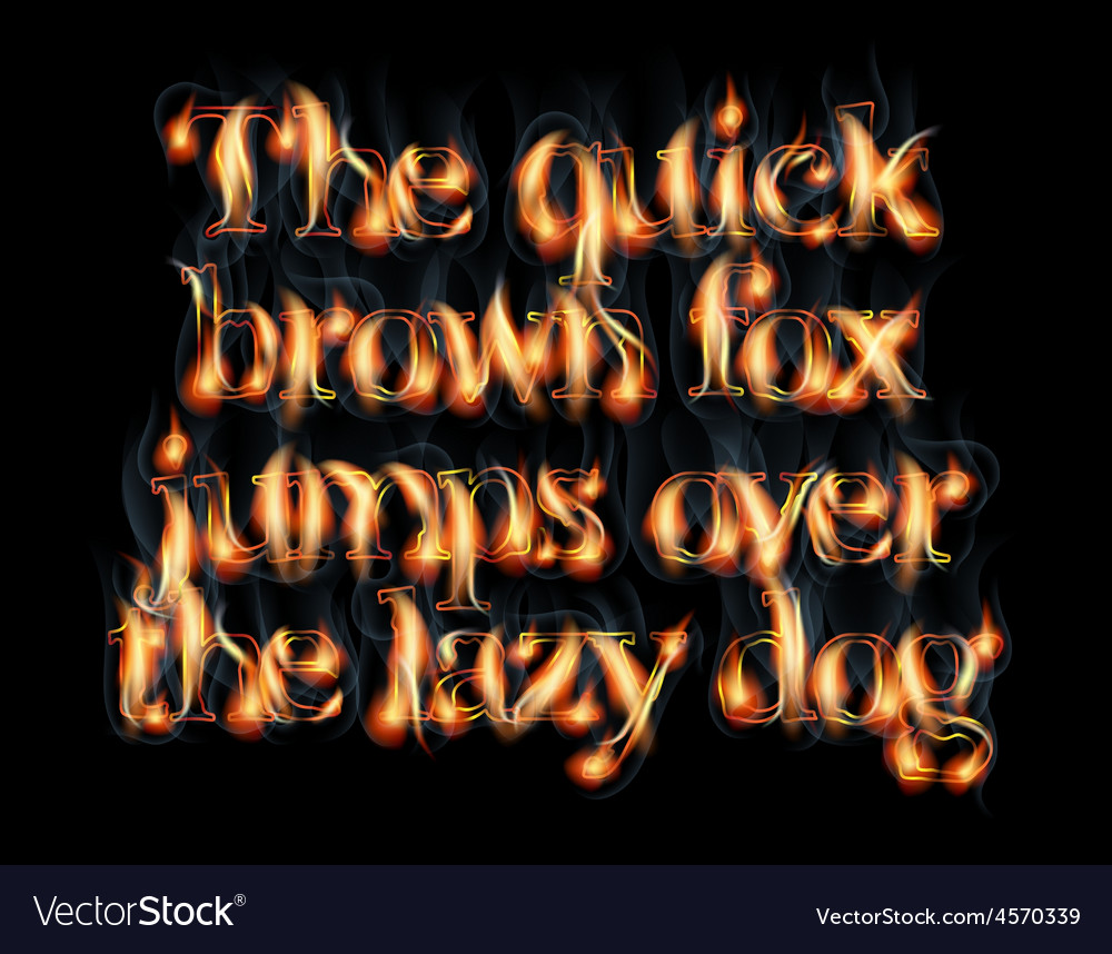 Burning letters vector | Price: 1 Credit (USD $1)