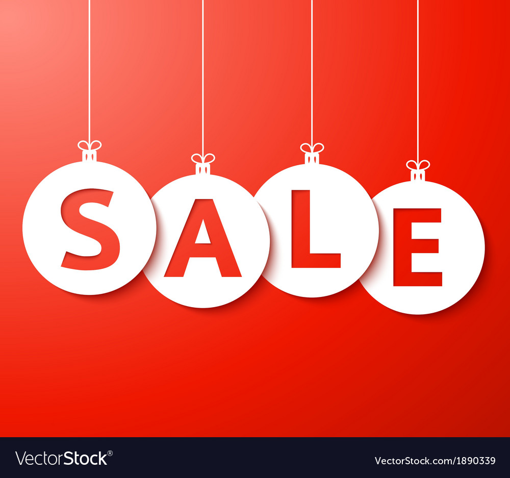 Christmas sale balls cut the paper vector | Price: 1 Credit (USD $1)
