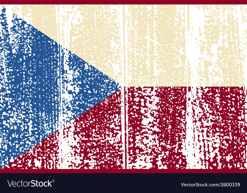 Czech republic grunge flag vector | Price: 1 Credit (USD $1)