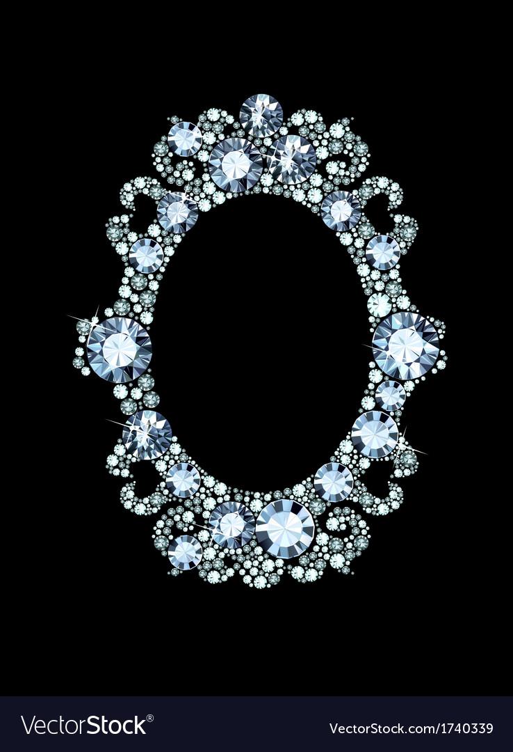 Diamond mirror frame vector | Price: 1 Credit (USD $1)