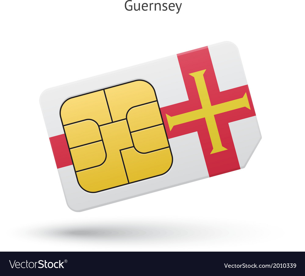 Guernsey mobile phone sim card with flag vector   Price: 1 Credit (USD $1)
