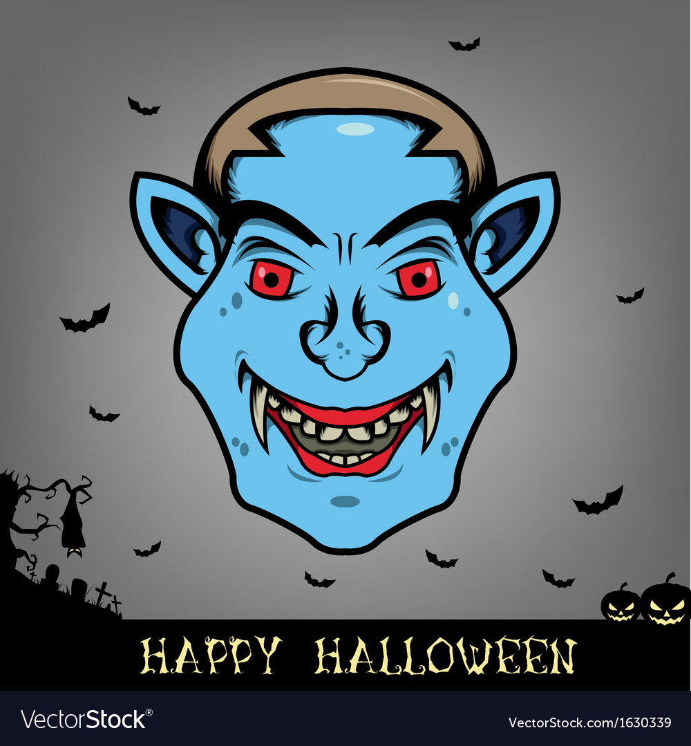 Halloween dracula head vector   Price: 1 Credit (USD $1)