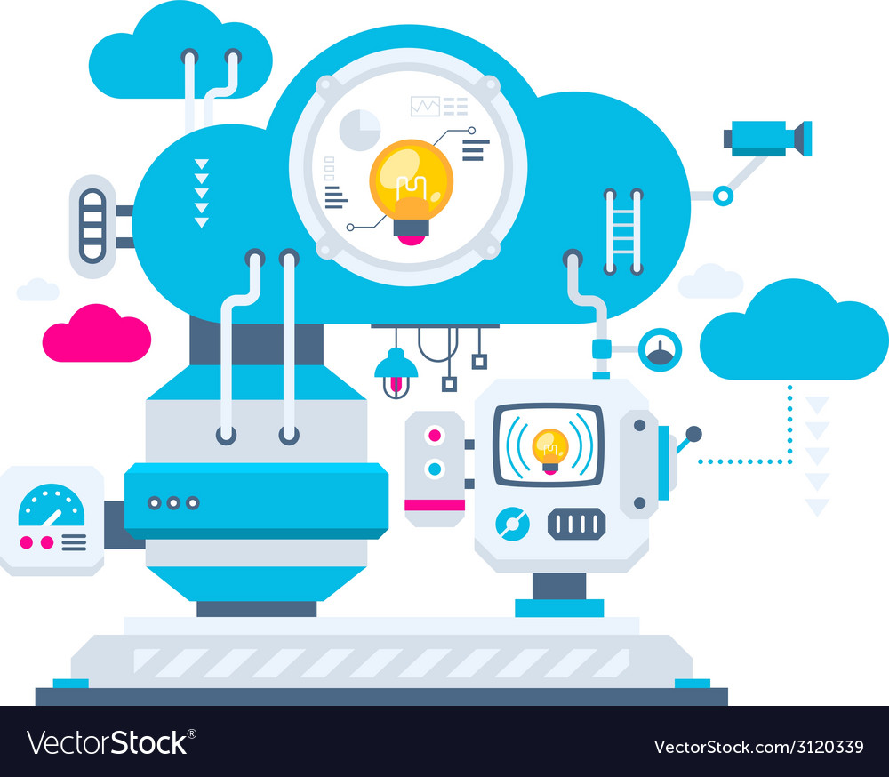 Industrial background of the cloud technolog vector   Price: 1 Credit (USD $1)