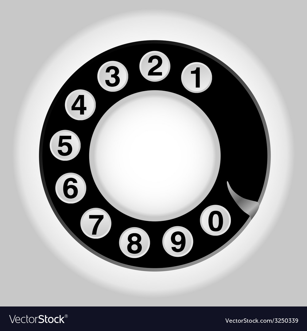 Phone number in circle old telephon vector | Price: 1 Credit (USD $1)