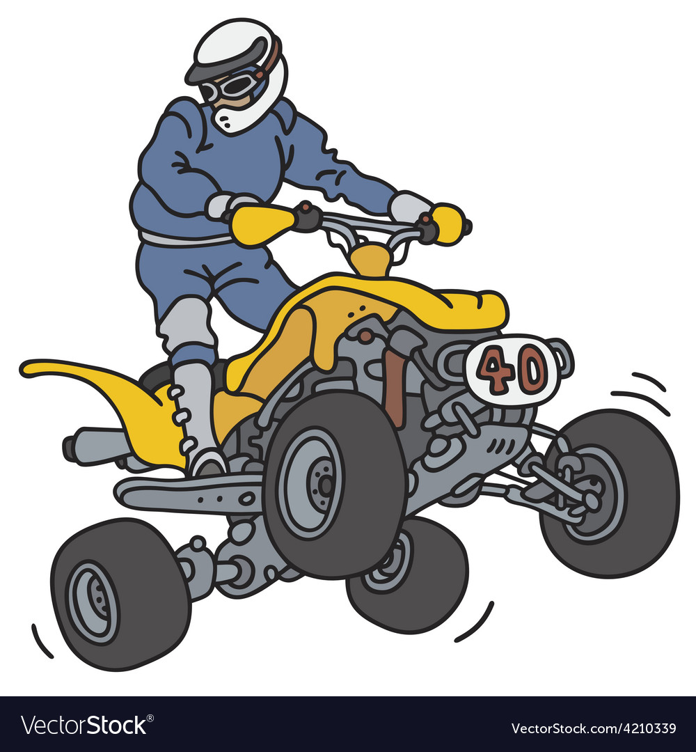Racer on the atv vector | Price: 1 Credit (USD $1)