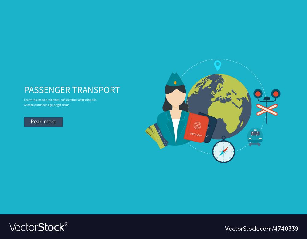 Railway station concept train on railway vector   Price: 1 Credit (USD $1)
