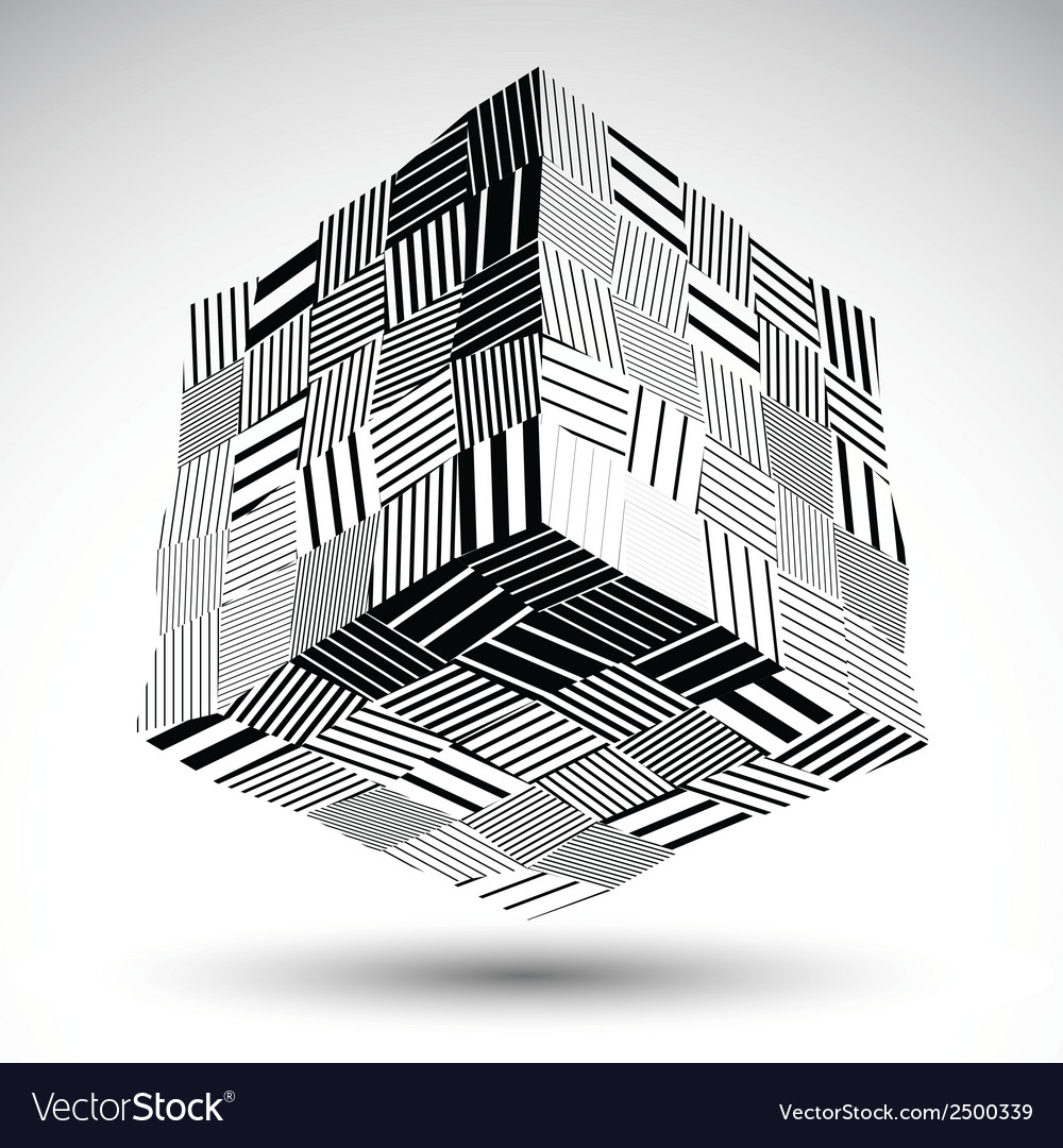 Undulate squared eps8 contrast object with black vector | Price: 1 Credit (USD $1)