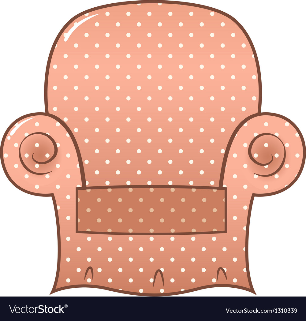 Vintage brown dotted chair isolated on white vector | Price: 1 Credit (USD $1)