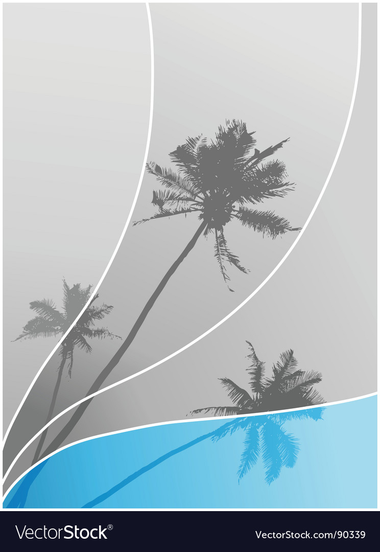 Illustration with palm trees vector | Price: 1 Credit (USD $1)