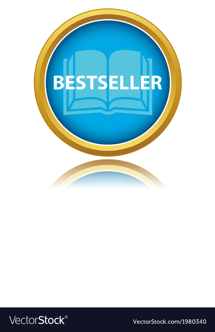 Blue gold best seller icon vector | Price: 1 Credit (USD $1)
