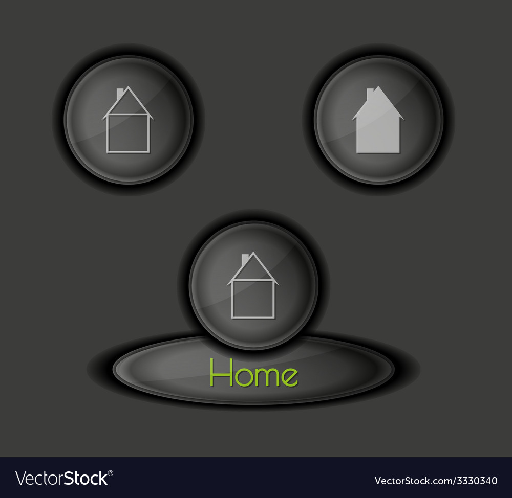 Buttons with houses vector   Price: 1 Credit (USD $1)