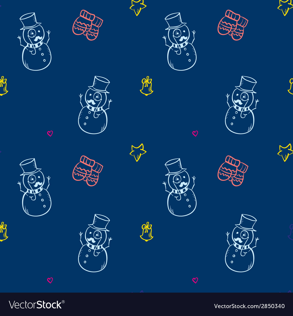 Christmas and new year seamless pattern vector | Price: 1 Credit (USD $1)