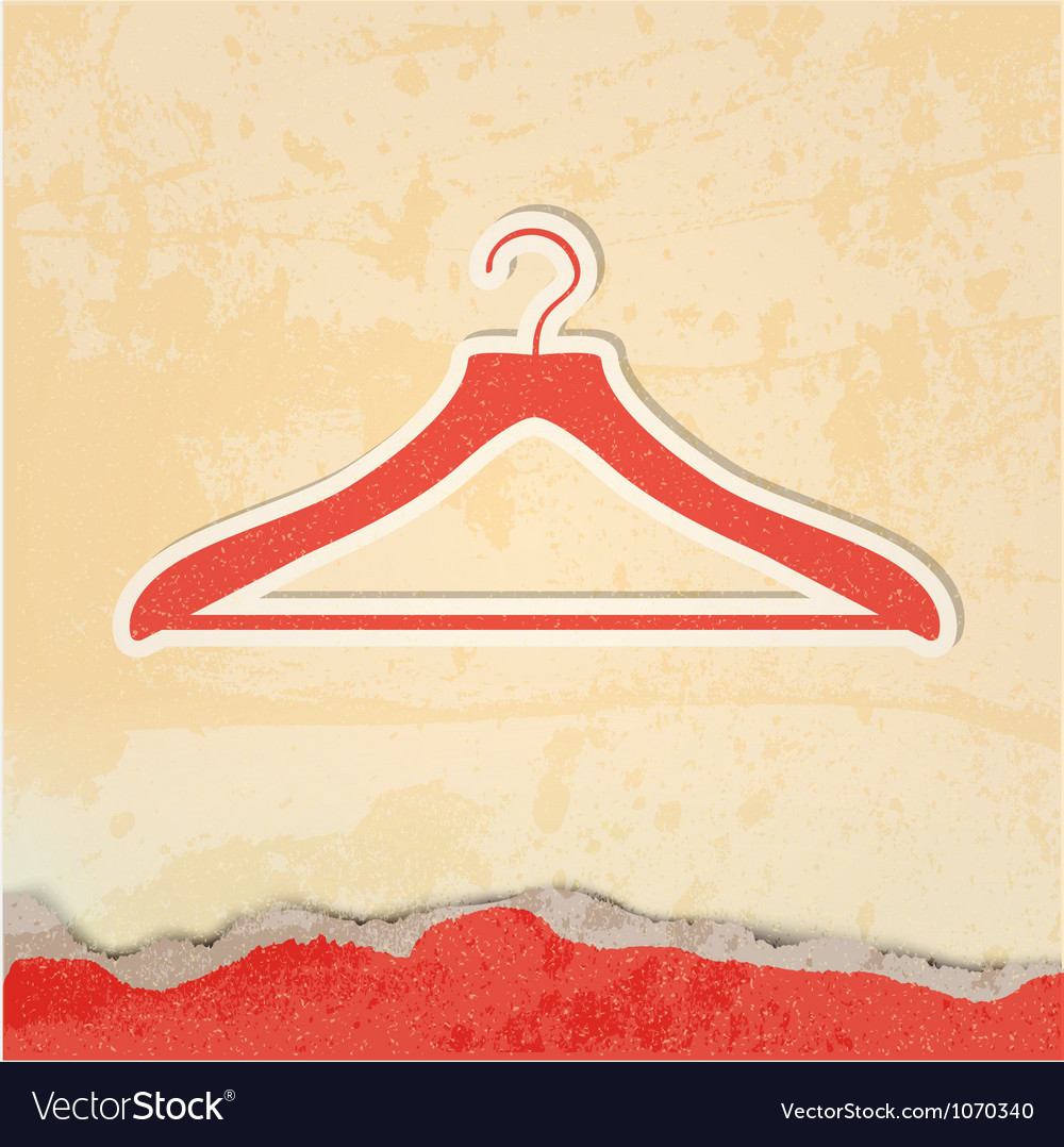 Clothes hanger retro poster vector | Price: 1 Credit (USD $1)