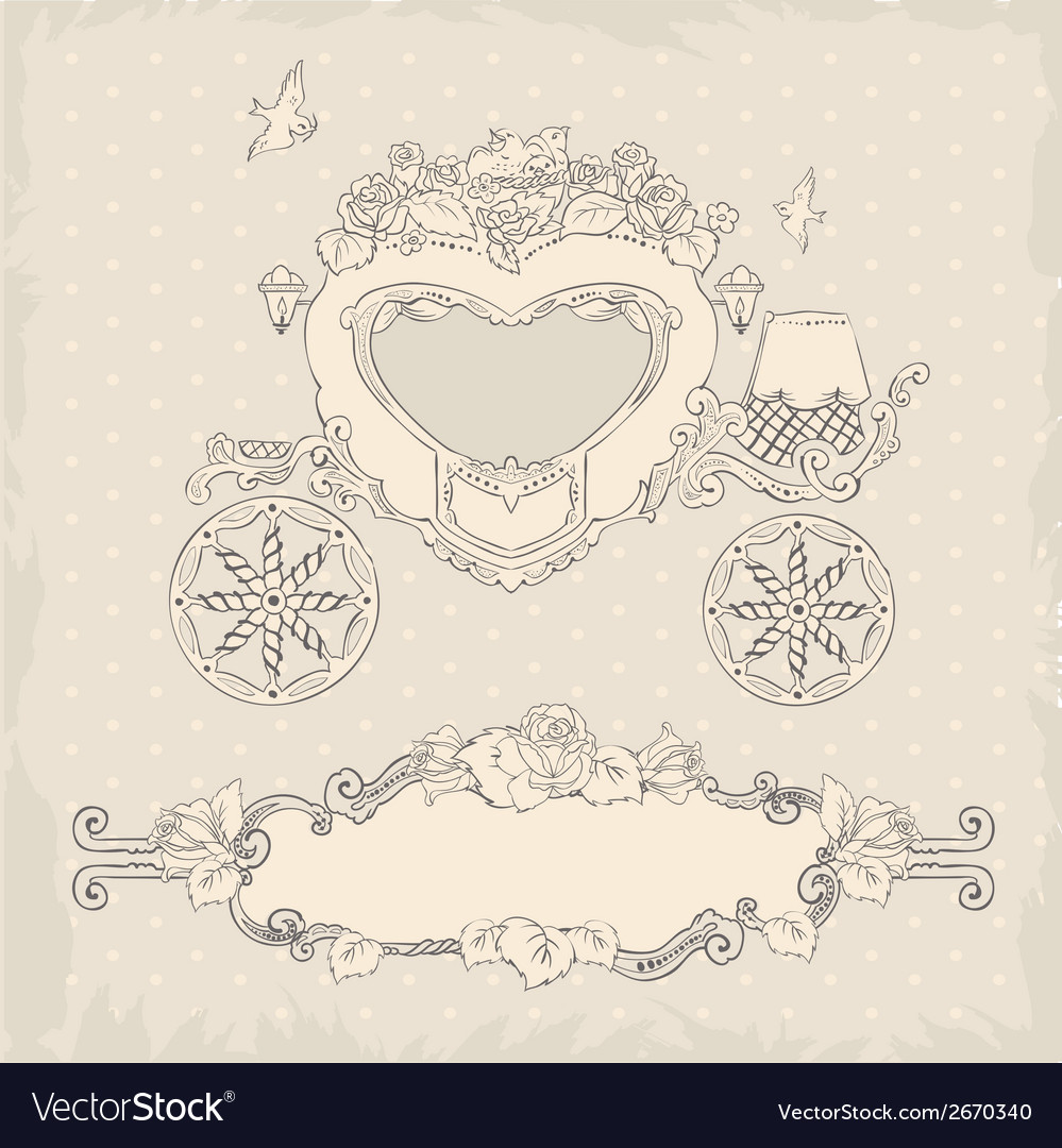 Coach template wedding invitation vector | Price: 1 Credit (USD $1)