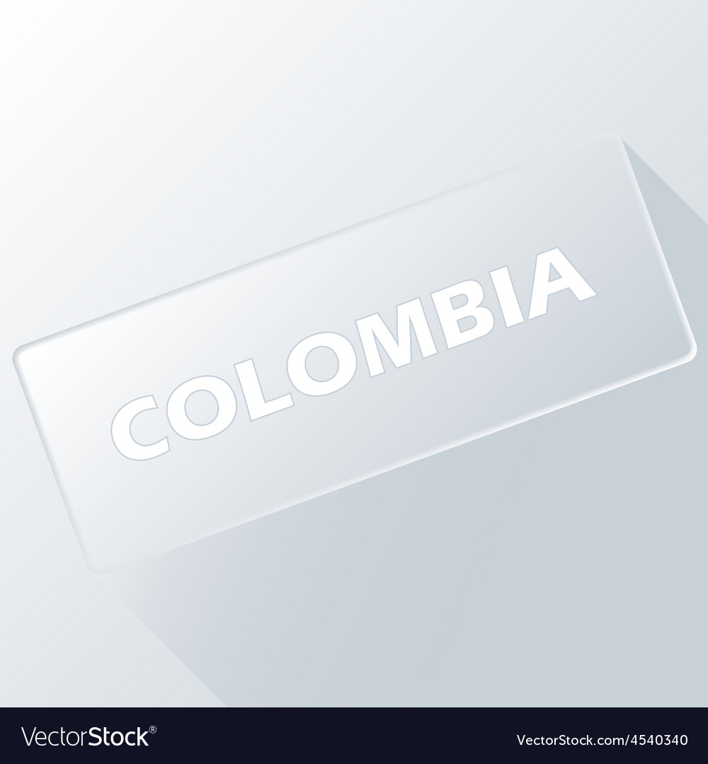 Colombia unique button vector | Price: 1 Credit (USD $1)