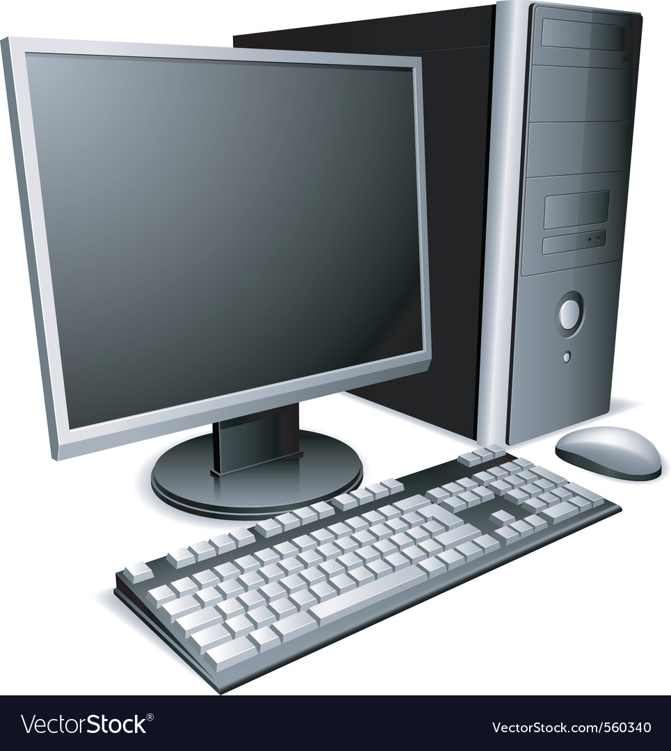 Desktop computer vector | Price: 3 Credit (USD $3)