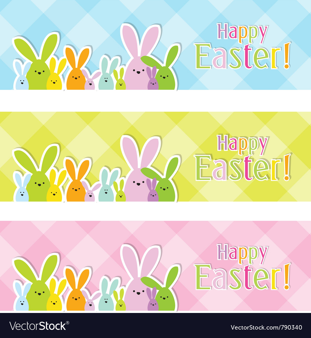 Easter web banners vector | Price: 1 Credit (USD $1)