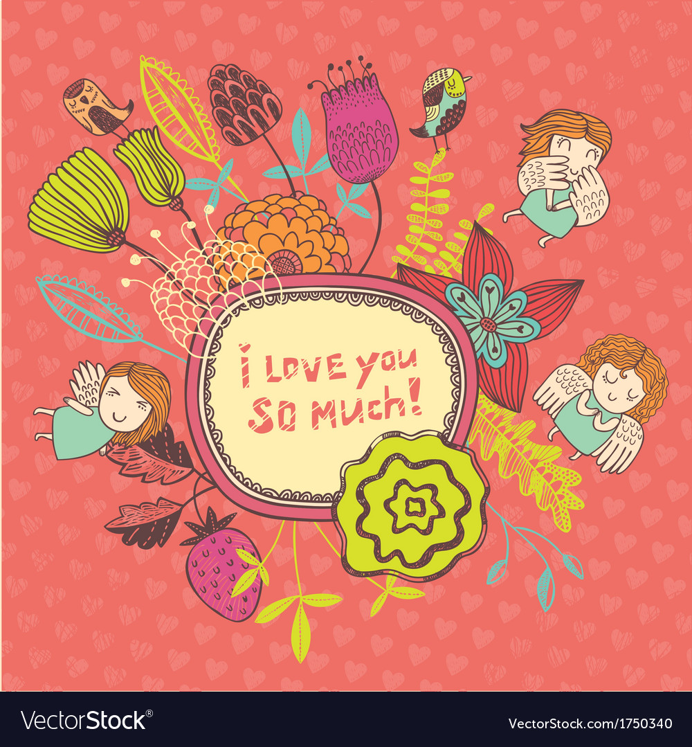I love you so much vector | Price: 1 Credit (USD $1)