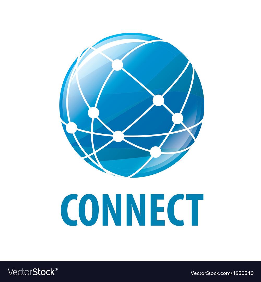 Logo global network worldwide vector