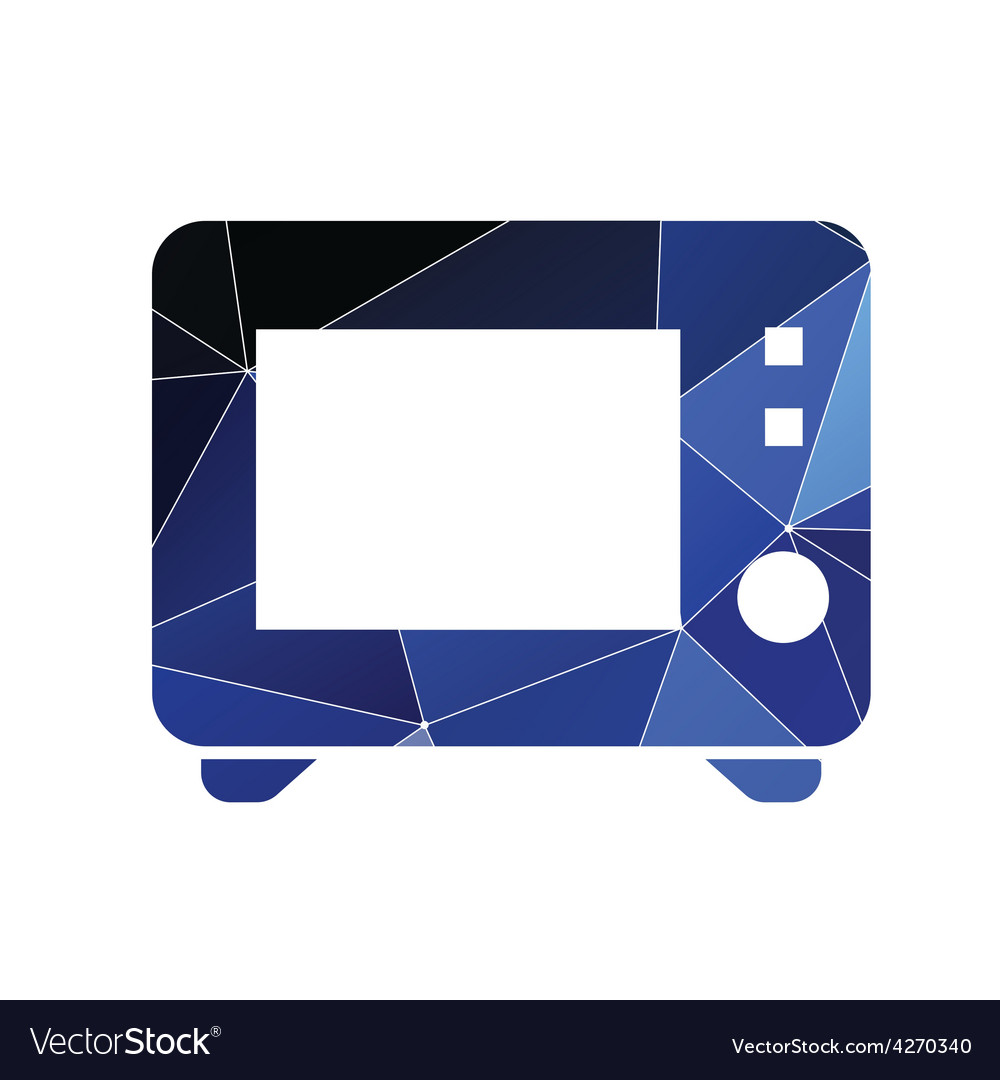 Microwave icon abstract triangle vector | Price: 1 Credit (USD $1)