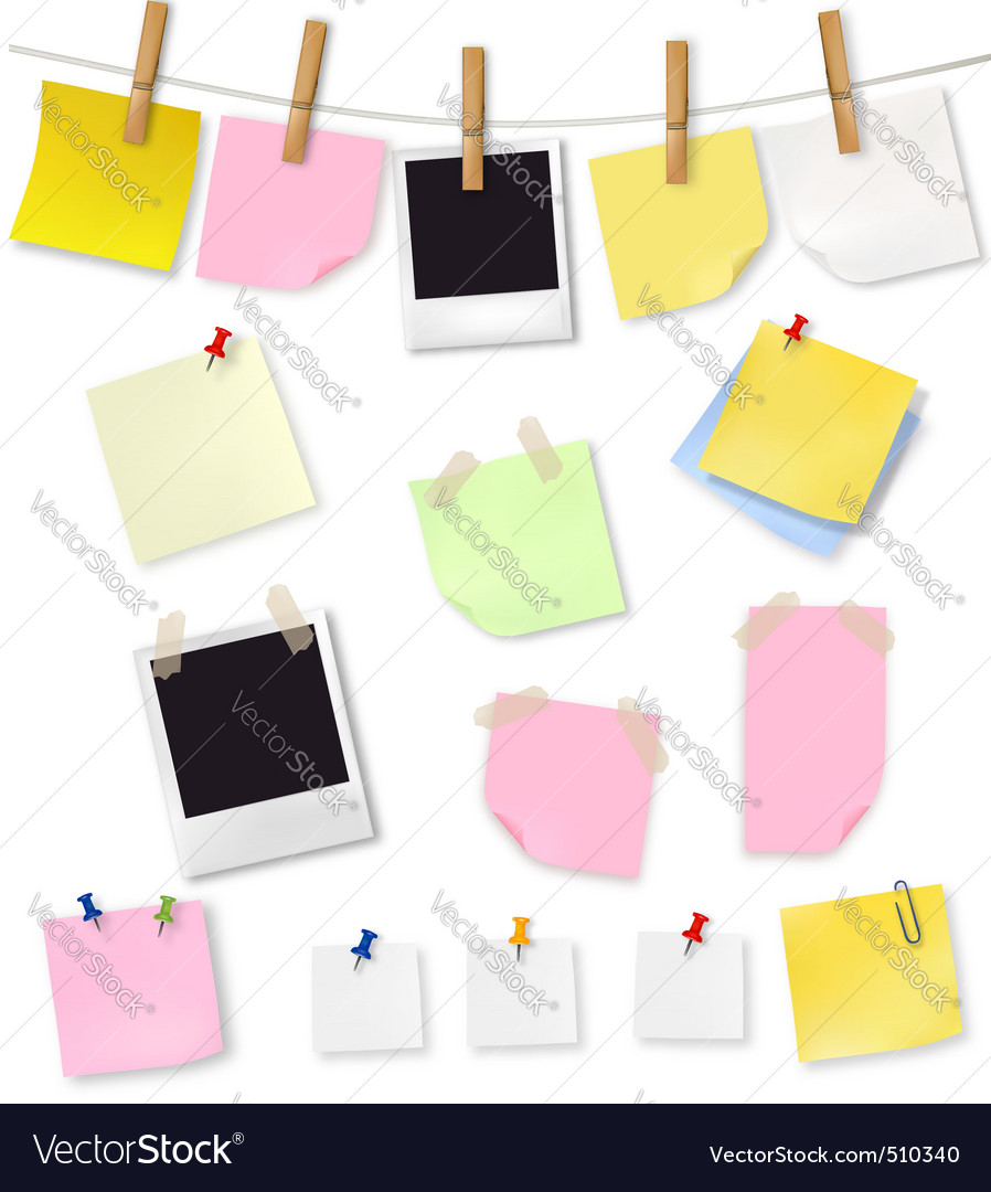 Note papers and office supplie vector | Price: 3 Credit (USD $3)