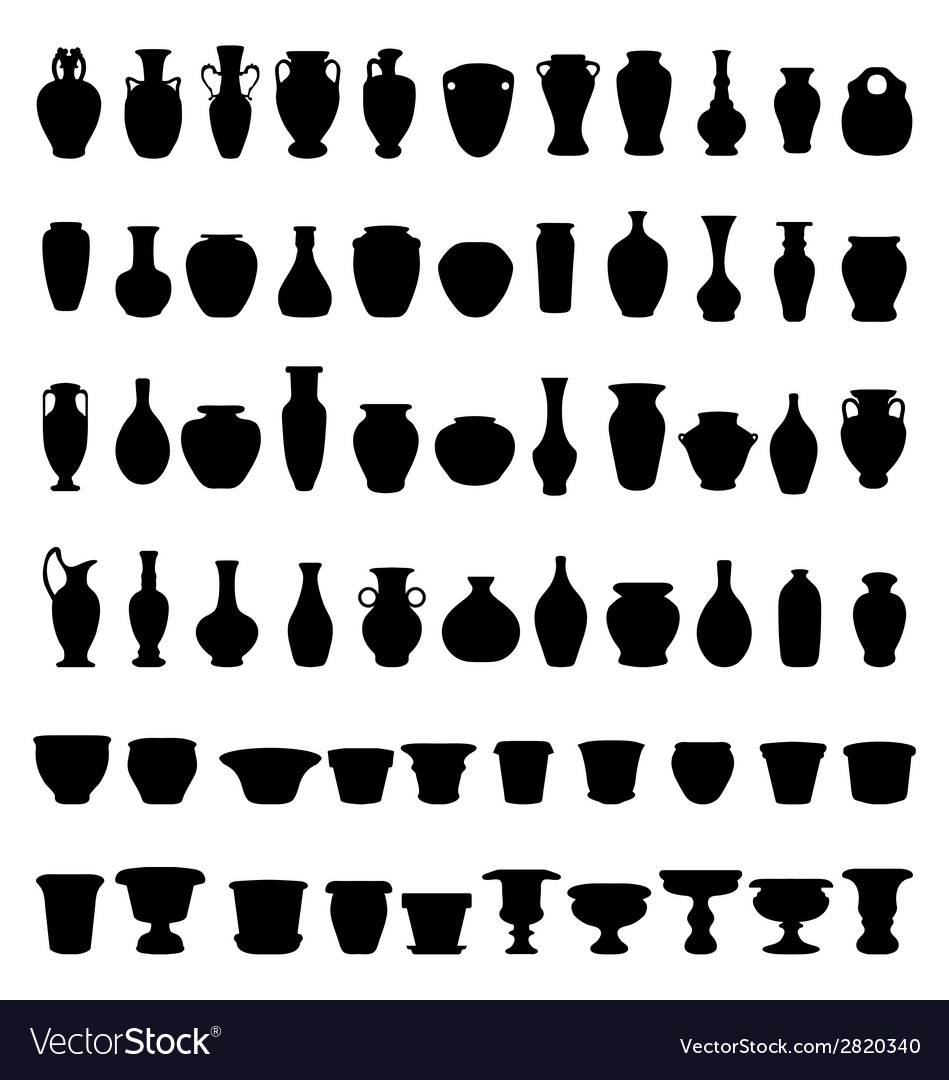 Pottery and vases vector | Price: 1 Credit (USD $1)
