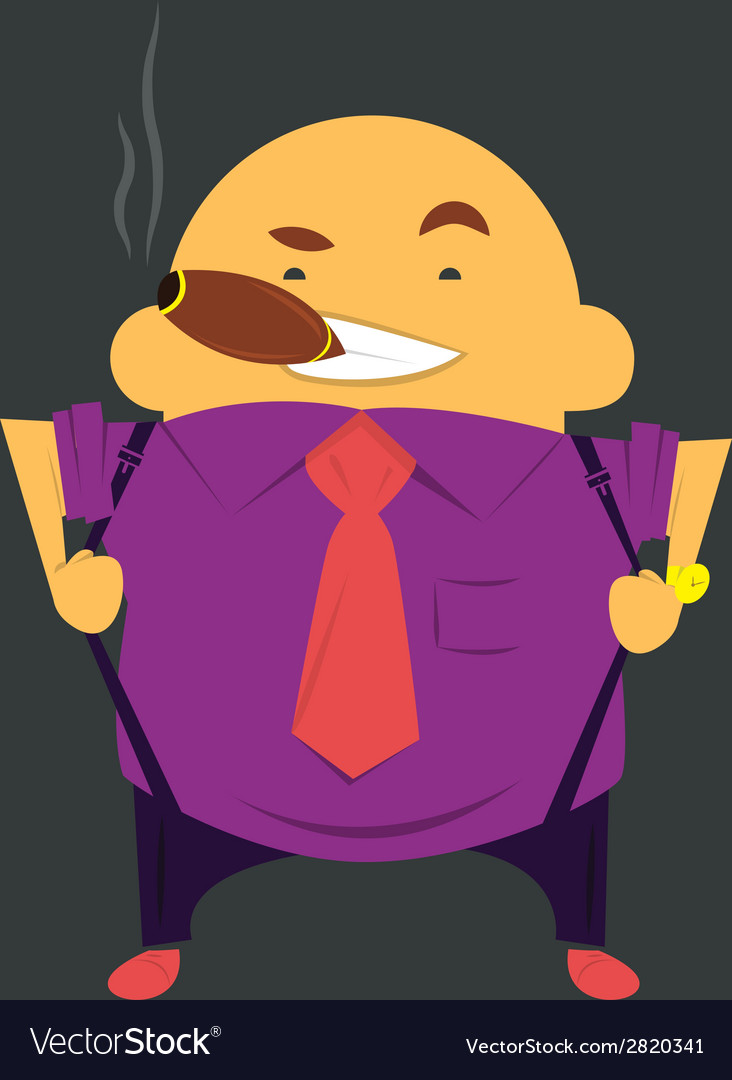 Boss or businessman with cigar with cigar in tie vector | Price: 1 Credit (USD $1)