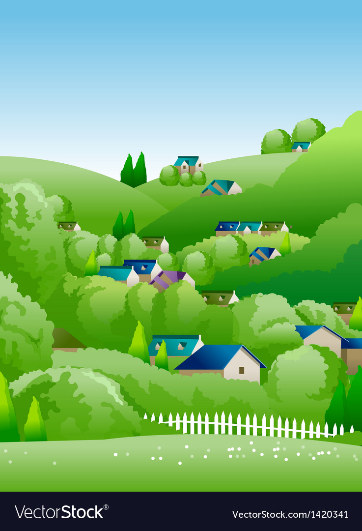 Country side vector | Price: 1 Credit (USD $1)