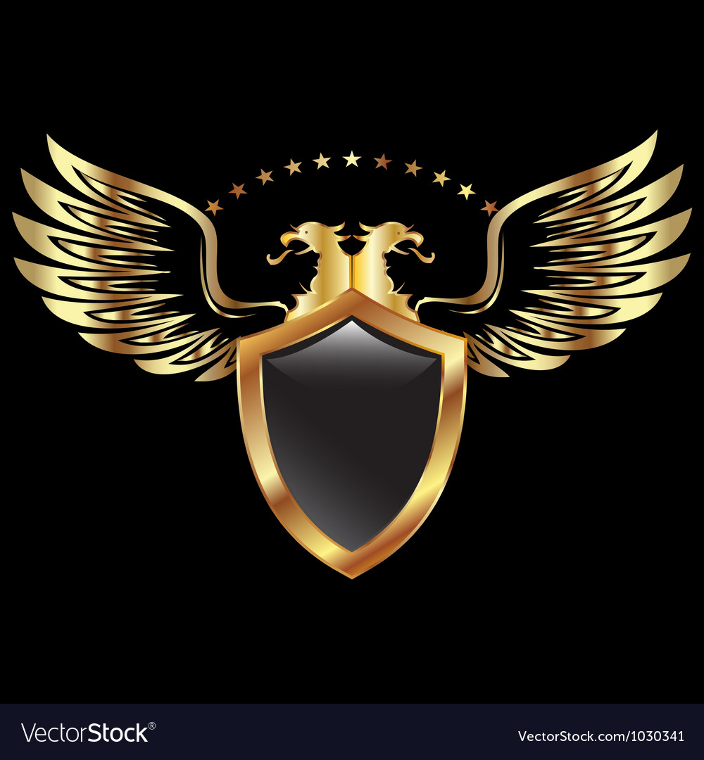 Gold eagle shield vector | Price: 1 Credit (USD $1)