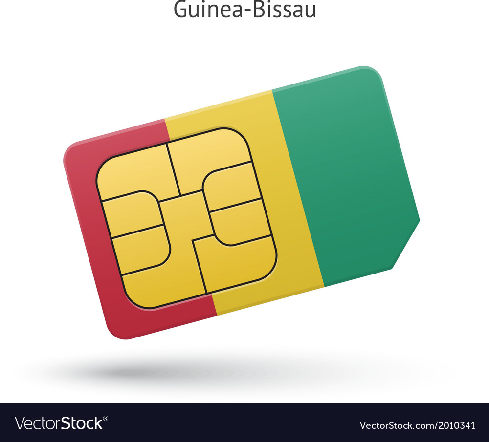 Guinea-bissau mobile phone sim card with flag vector | Price: 1 Credit (USD $1)