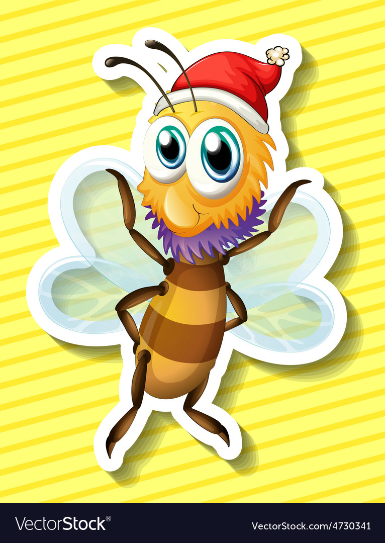 Happy bee vector | Price: 1 Credit (USD $1)