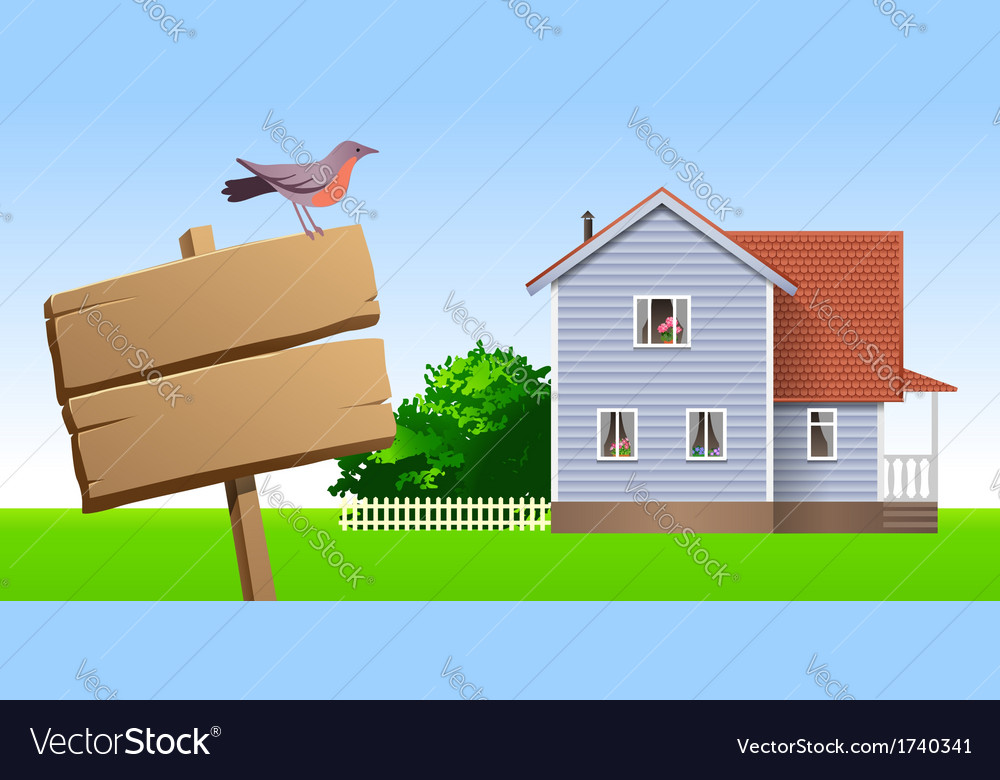 House sale vector | Price: 1 Credit (USD $1)