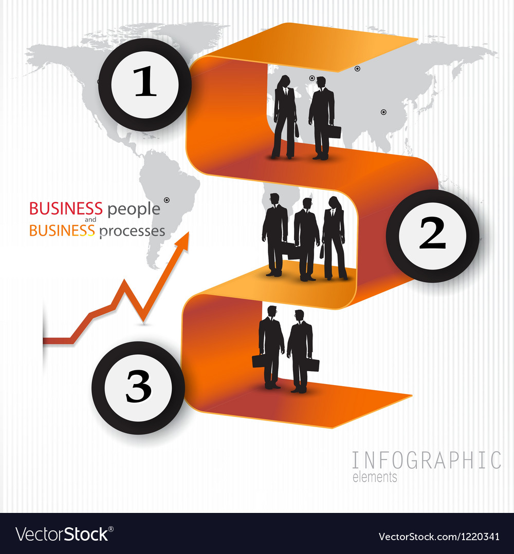 Modern design banners with business people vector | Price: 1 Credit (USD $1)