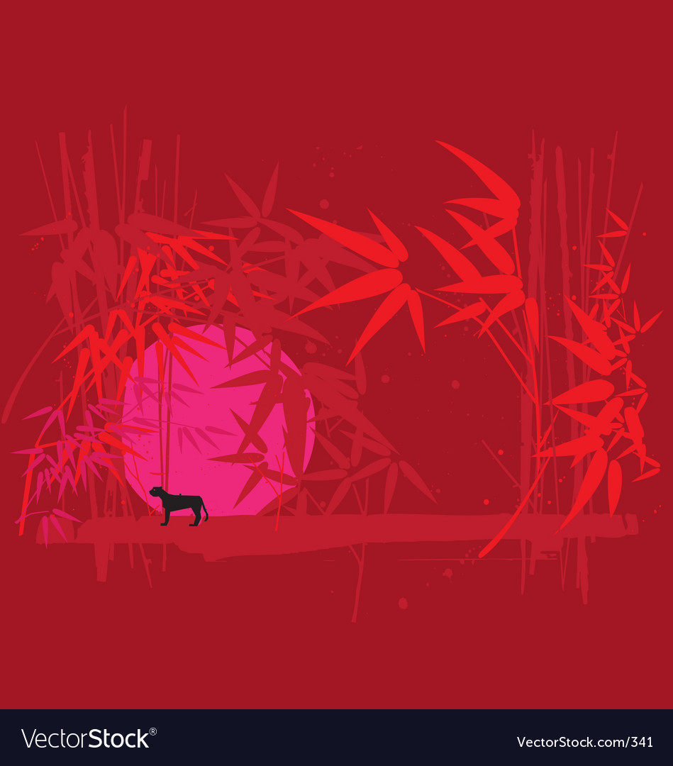 Neon jungle vector | Price: 1 Credit (USD $1)
