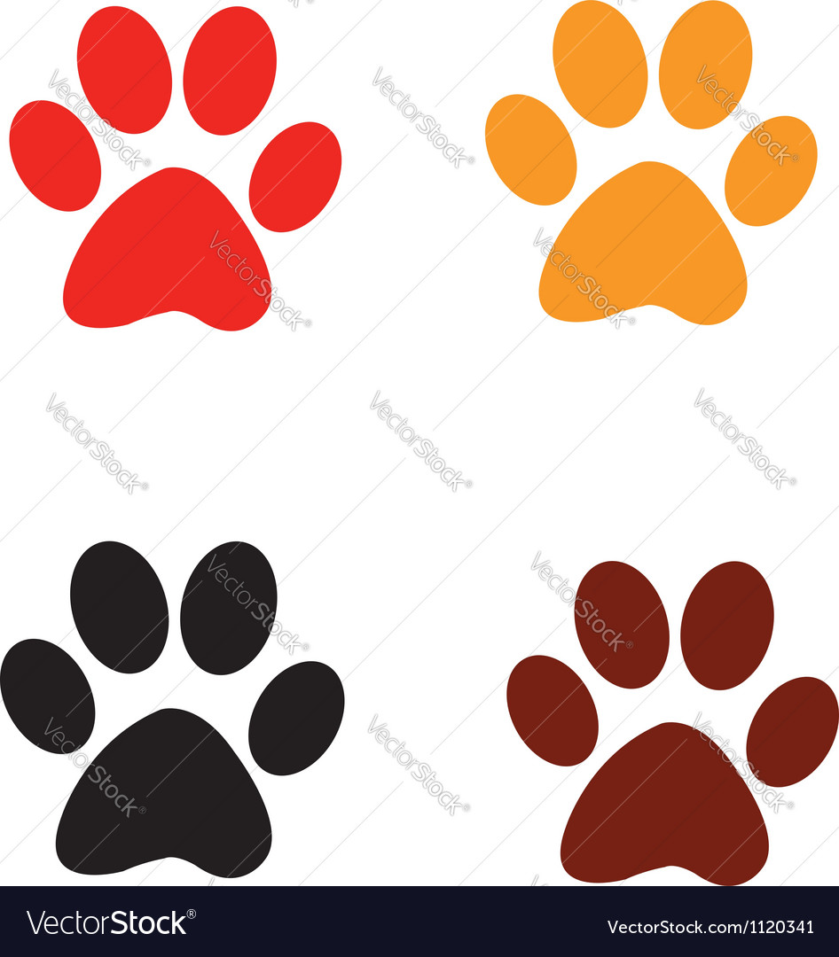 Paw prints vector | Price: 1 Credit (USD $1)