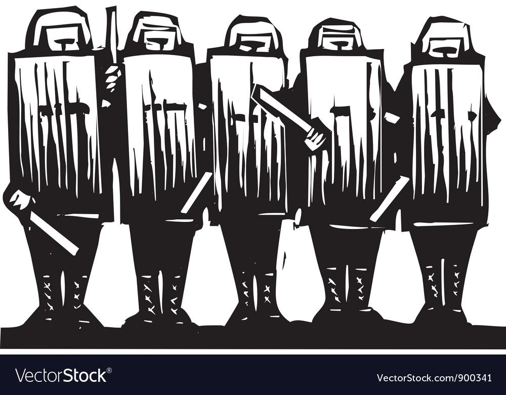 Riot police vector | Price: 1 Credit (USD $1)