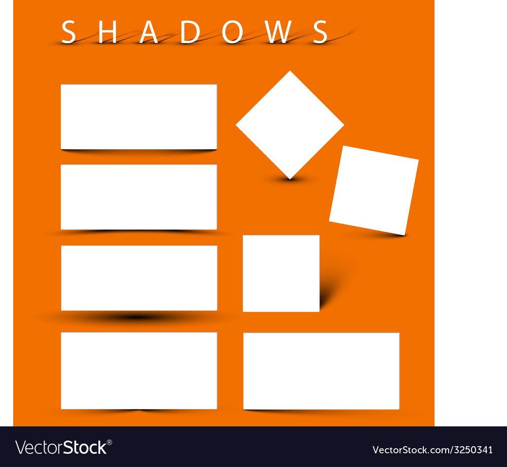 Set of evctor shadow effects vector | Price: 1 Credit (USD $1)